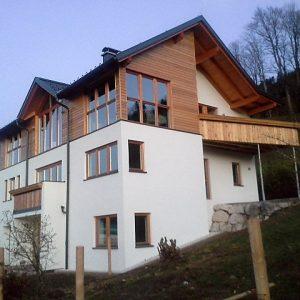 Holzfassade Holzfenster Tischlerei Lohninger